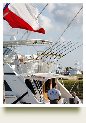 Fishing Boat With Texas Flag Flying Above